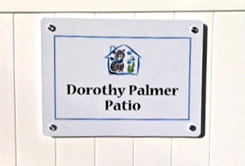 Dorothy Palmer Patio Sign